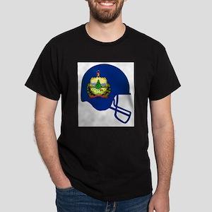 Vermont State Flag Football Helmet T-Shirt