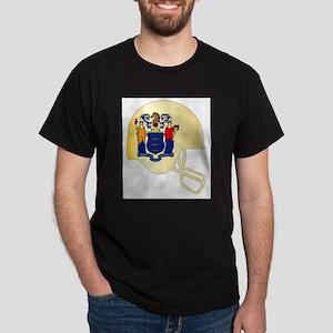 New Jersey State Flag Football Helmet T-Shirt