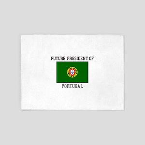 President of Portugal Flag 5'x7'Area Rug