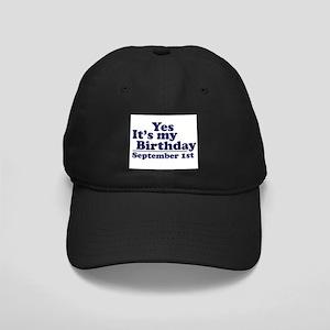 September 1st Birthday Black Cap