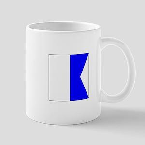"""ICS Flag Letter """"A"""" Mugs"""