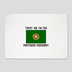 President of Portugal 5'x7'Area Rug