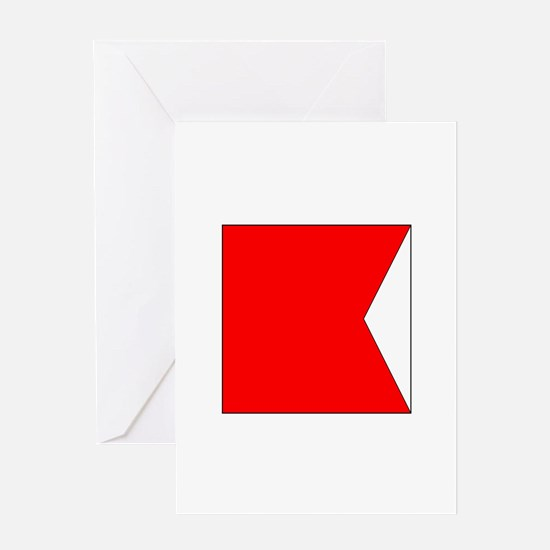 "ICS Flag Letter ""B"" Greeting Cards"