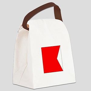 "ICS Flag Letter ""B"" Canvas Lunch Bag"
