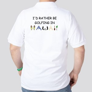 """""""I'd Rather Be in Hawaii"""" Golf Shirt"""