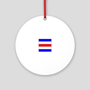"ICS Flag Letter ""C"" Ornament (Round)"