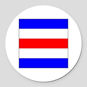 "ICS Flag Letter ""C"" Round Car Magnet"
