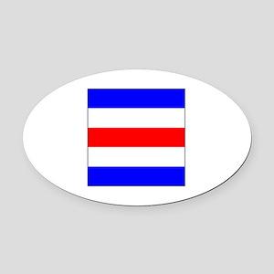"""ICS Flag Letter """"C"""" Oval Car Magnet"""