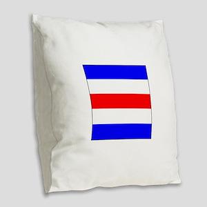 "ICS Flag Letter ""C"" Burlap Throw Pillow"