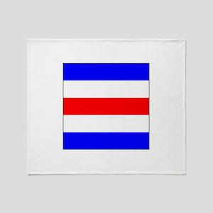 """ICS Flag Letter """"C"""" Throw Blanket"""