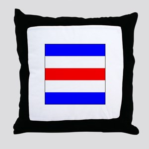 "ICS Flag Letter ""C"" Throw Pillow"