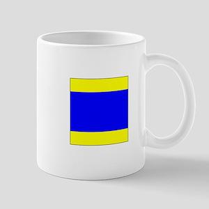 "ICS Flag Letter ""D"" Mugs"