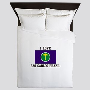 I Love Sao Carlos Brazil Queen Duvet