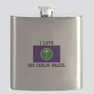 I Love Sao Carlos Brazil Flask