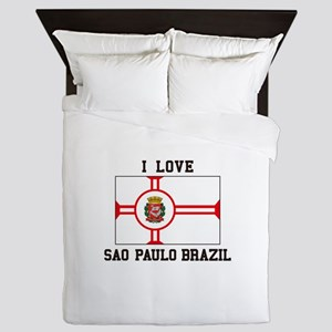 I Love Sao Paulo Brazil Queen Duvet