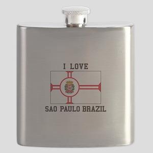 I Love Sao Paulo Brazil Flask