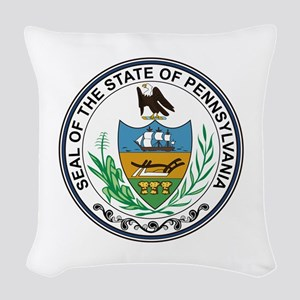 Pennsylvania State Seal Woven Throw Pillow