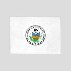 Pennsylvania State Seal 5'x7'Area Rug
