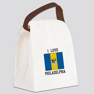 Famous In Philadelphia Canvas Lunch Bag