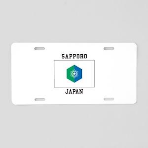 Sapporo Japan Aluminum License Plate