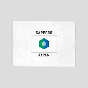 Sapporo Japan 5'x7'Area Rug