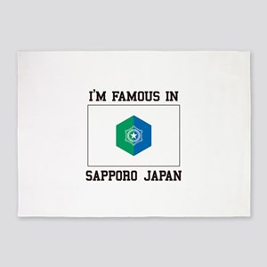 Famous In Sapporo Japan 5'x7'Area Rug