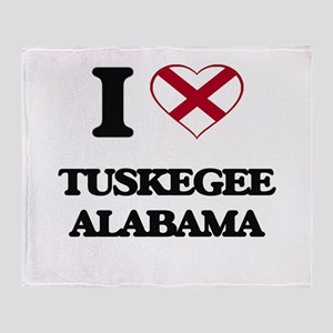 I love Tuskegee Alabama Throw Blanket