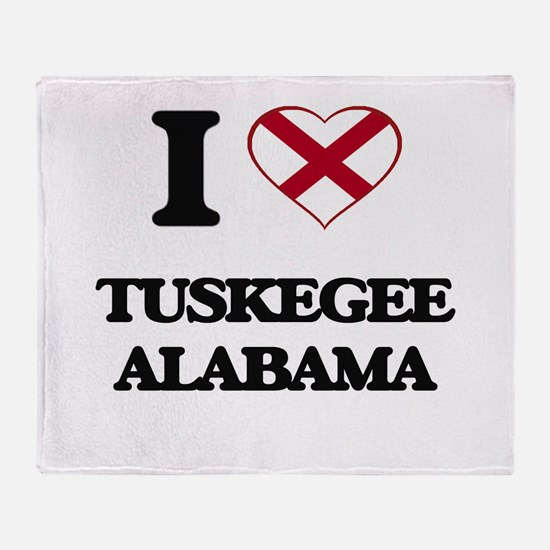 I love Tuskegee Alabama Throw Blanket