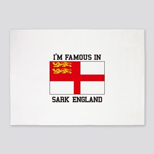 Famous In Sark England 5'x7'Area Rug