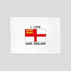 I Love Sark England 5'x7'Area Rug