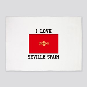 I Love Seville Spain 5'x7'Area Rug