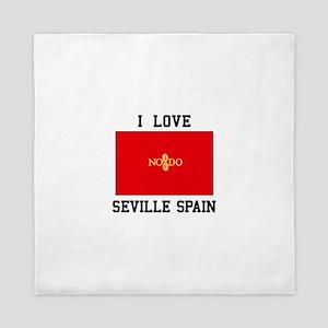 I Love Seville Spain Queen Duvet