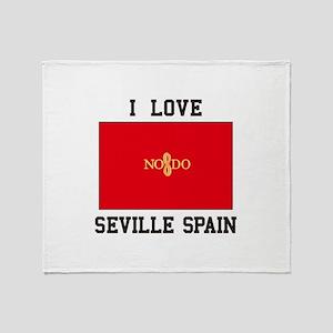 I Love Seville Spain Throw Blanket