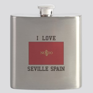 I Love Seville Spain Flask