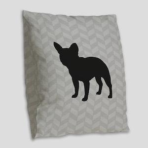 French Bulldog Burlap Throw Pillow
