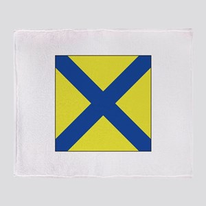 """Allied Flag Number """"5"""" Throw Blanket"""