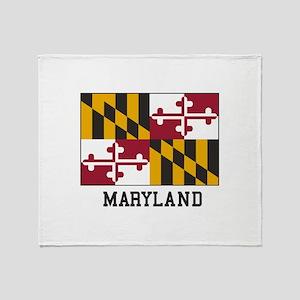 Maryland Flag Throw Blanket