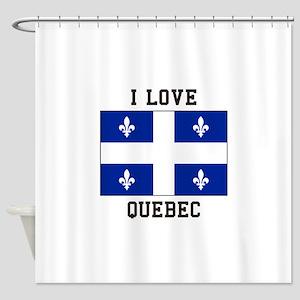 I Love Quebec Shower Curtain
