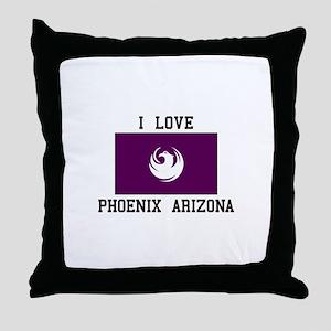 I Love Phoenix Arizona Throw Pillow