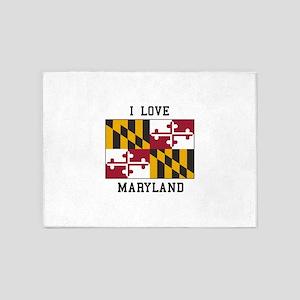 I Love Maryland 5'x7'Area Rug