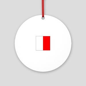 "ICS Flag Letter ""H"" Ornament (Round)"
