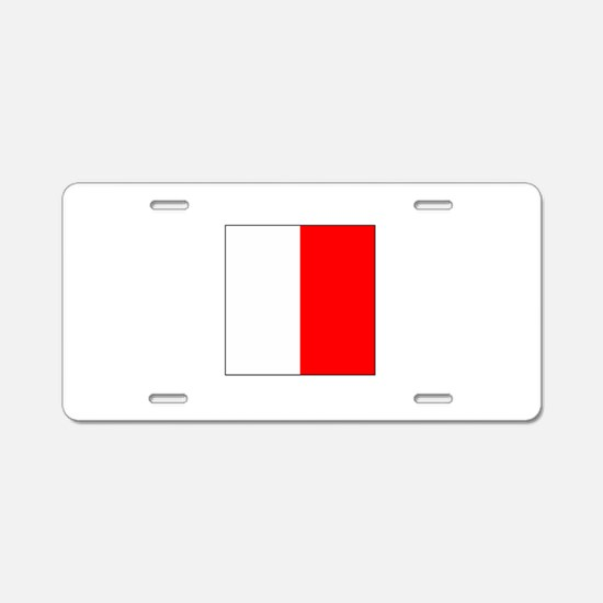 "ICS Flag Letter ""H"" Aluminum License Pla"