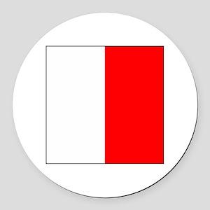 "ICS Flag Letter ""H"" Round Car Magnet"