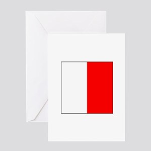 "ICS Flag Letter ""H"" Greeting Cards"