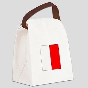 """ICS Flag Letter """"H"""" Canvas Lunch Bag"""