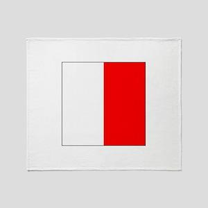 """ICS Flag Letter """"H"""" Throw Blanket"""