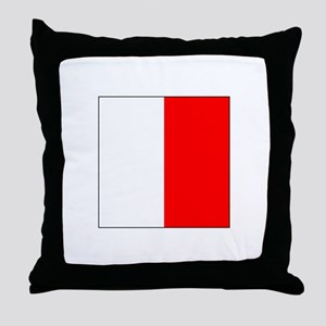 "ICS Flag Letter ""H"" Throw Pillow"