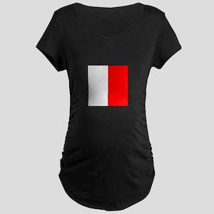 "ICS Flag Letter ""H"" Maternity T-Shirt"