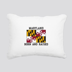 Born and Raised Maryland Rectangular Canvas Pillow