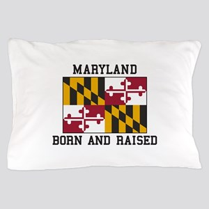 Maryland state flag gifts cafepress born and raised maryland pillow case negle Choice Image